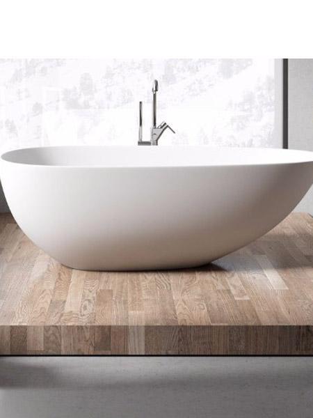 Bañera exenta Solid Surface Grecia 170x88 cm