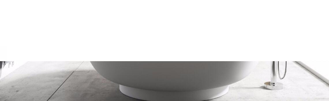 Bañera exenta Solid Surface redonda Manaos d.150 cm