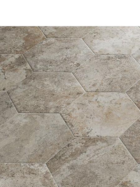 Pavimento hexagonal porcelánico Blur gris 28.5 x 33 cm (1 m2/cj)