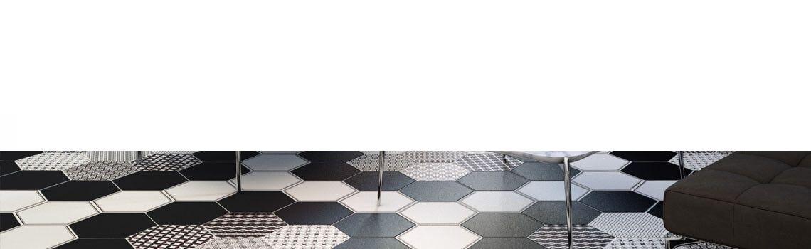 Pavimento hexagonal porcelánico Grazia base 28.5 x 33 cm.