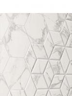 Pavimento hexagonal porcelánico Zaire carrara 28.5 x 33 cm.