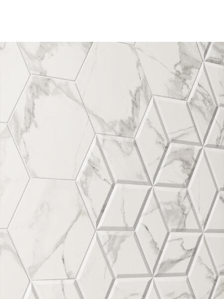 Pavimento hexagonal porcelánico Zaire decor carrara 28.5 x 33 cm (1 m2/cj)
