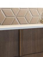 Pavimento hexagonal porcelánico Zaire decor crema 28.5 x 33 cm.