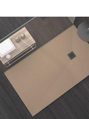 Plato de ducha Stone plus textura pizarra 70x70 cm (24/48 horas).