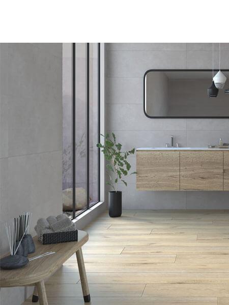Revestimiento pasta blanca rectificado cement gris 33.3x100cm (2 m2/cj)