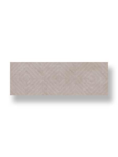 Revestimiento pasta blanca rectificado decorado lecco gris 33.3x100cm (2 m2/cj)
