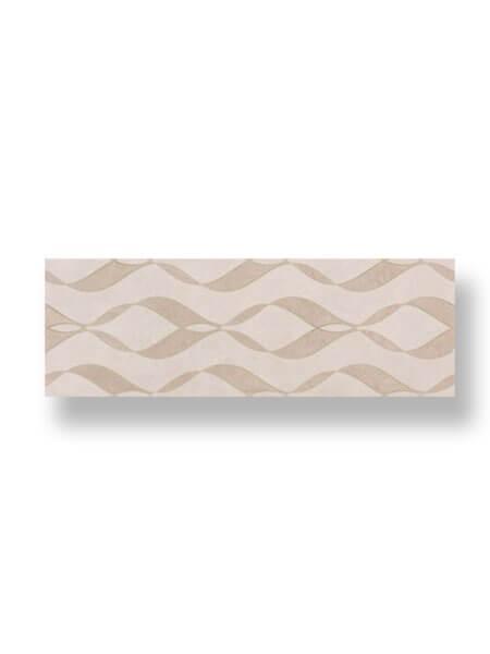 Revestimiento pasta blanca rectificado decorado Varesse marfil 33.3x100cm (2 m2/cj)