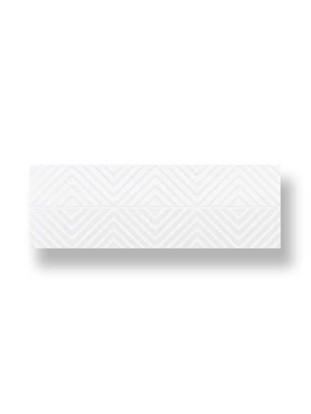 Revestimiento pasta blanca rectificado decorado Hanne blanco mate 33.3x100 cm (2 m2/cj)