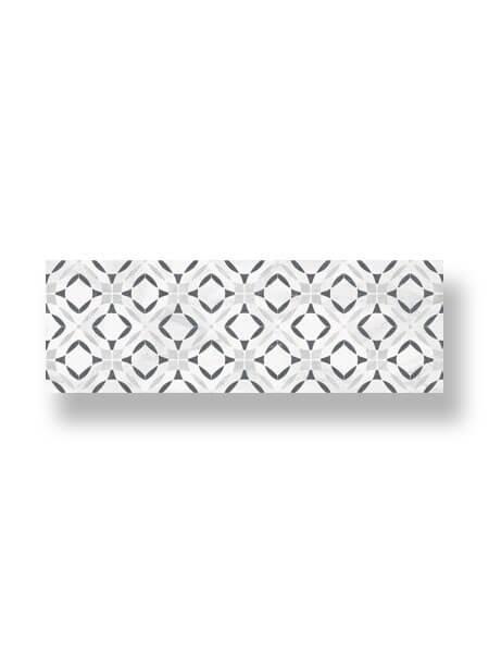 Revestimiento pasta blanca rectificado decorado Mells brillo 33.3x100 cm (2 m2/cj)