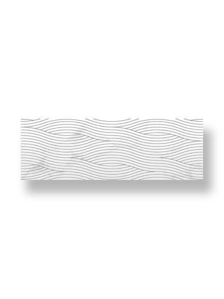 Revestimiento pasta blanca rectificado decorado Teber brillo 33.3x100 cm (2 m2/cj)