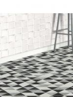 Azulejo porcelánico diamond triangle concrete 70x40 cm.