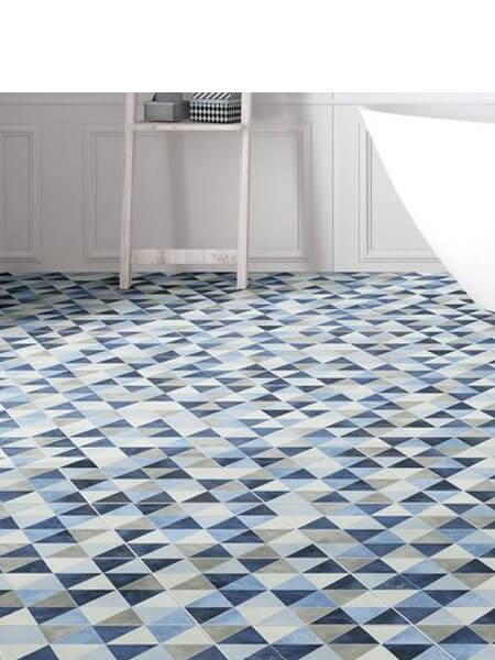 Azulejo porcelánico diamond triangle denim 70x40 cm (0.98 m2/cj)