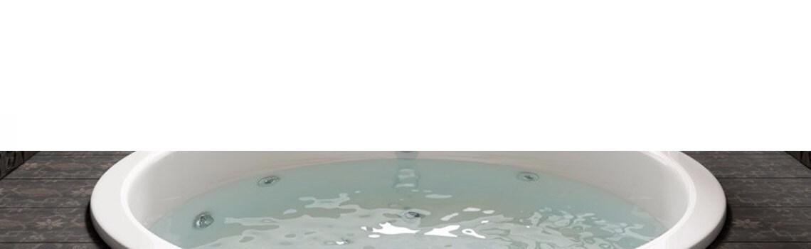 Bañera acrílica encastrada Aloha D.140 cm