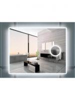 Espejo c/aumento iluminación led rectangular 100 x 80 cm.