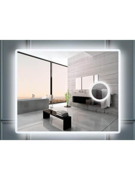 Espejo c/aumento iluminación led rectangular 100 x 80 cm