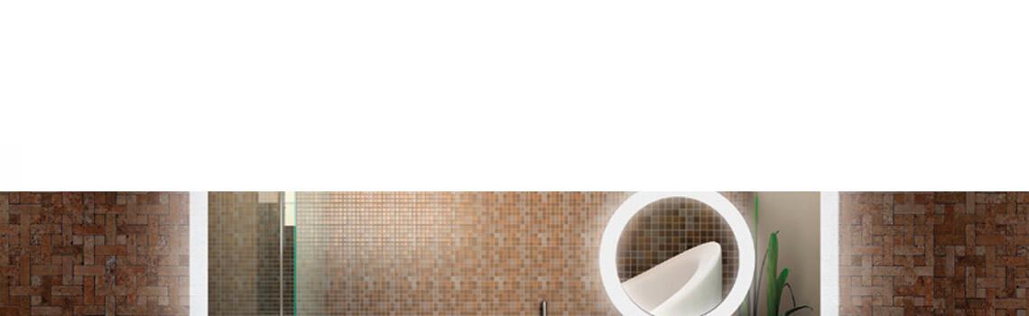 Espejo c/aumento iluminación led rectangular 80 x 80 cm.