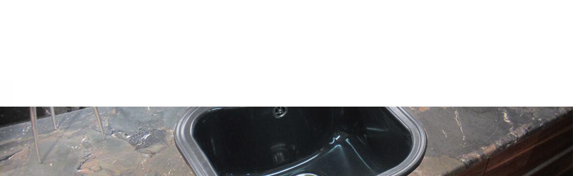 Fregadero de fibra domus estilo 1 cubeta para grifo.