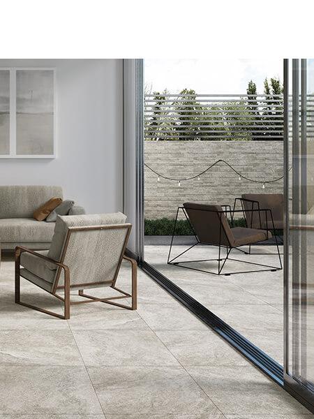 Pavimento porcelánico rectificado Nague perla 60x60 cm (1.44 m2/cj)