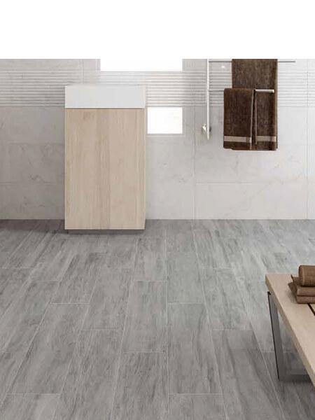Pavimento porcelánico rectificado Ryke Argent 20x120 cm (1.44 m2/cj)