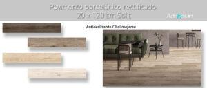 Pavimento porcelánico rectificado Solit 20x120 cm