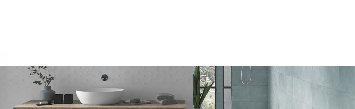 Azulejo pasta blanca rectificado Arco aqua 30x90 cm.