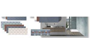Azulejo pasta blanca rectificado Arco ash 30x90 cm.