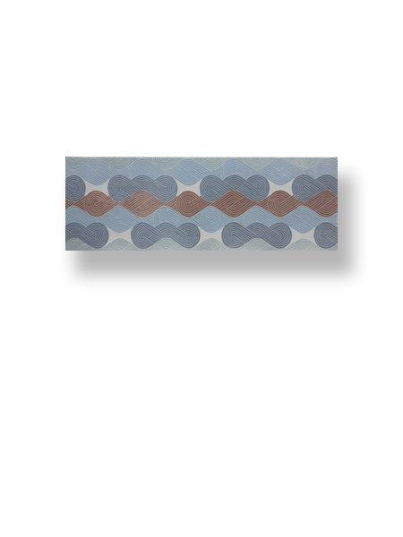 Azulejo pasta blanca rectificado decorado Arco Iris 30x90 cm (1.08 m2/cj)
