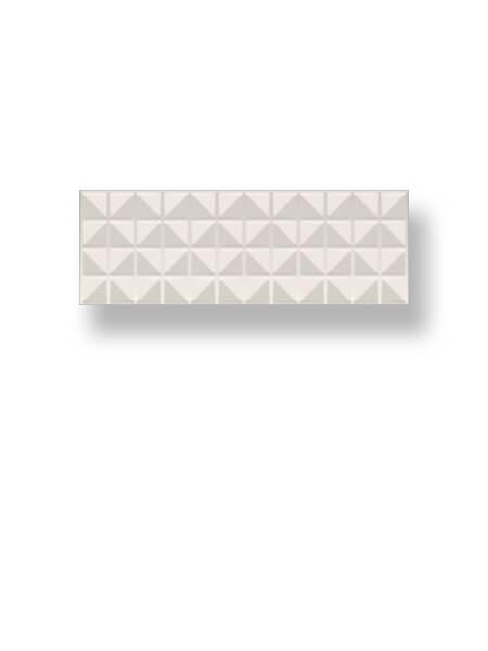 Azulejo pasta blanca rectificado decorado Arco Myra Ivory 30x90 cm (1.08 m2/cj)