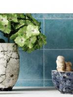 Azulejo porcelánico Zellige aqua 33x33 cm.