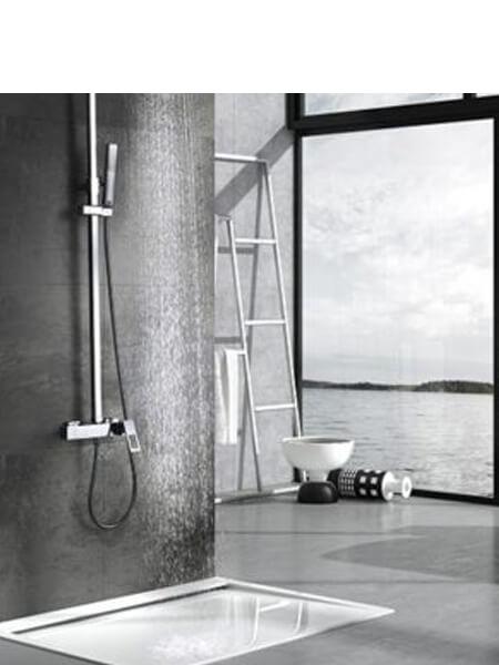 Columna de ducha monomando Voussac cromada
