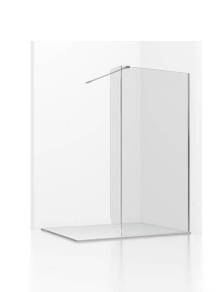Fijo + fijo de ducha Adr cristal transparente de 6 mm de 80 a 120 cm con antical