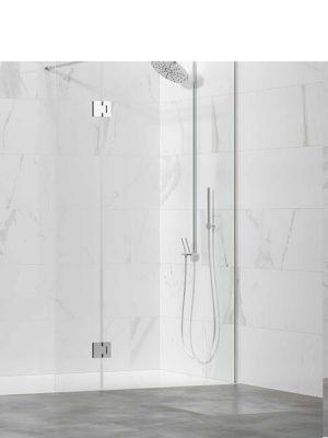 Fijo + abatible de ducha Adr cristal transparente de 6 mm