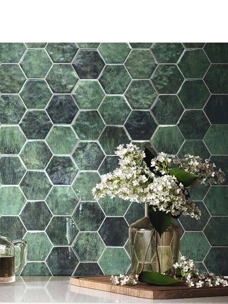 Pavimento hexagonal porcelánico hex zellige 26,5 x 51 cm (0.95 m2/cj)
