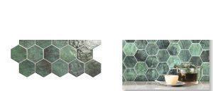 Pavimento hexagonal porcelánico hex zellige 26,5 x 51 cm.