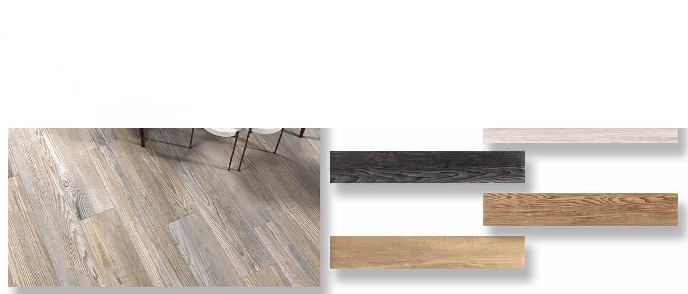Pavimento porcelánico rectificado Naber 20x120 cm.