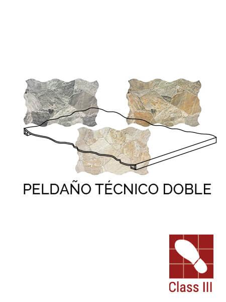 Peldaño técnico doble porcelánico Sella 44x66 cm