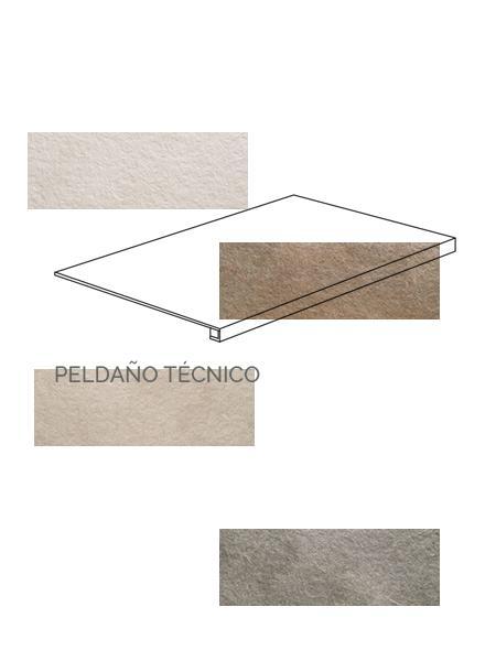 Peldaño técnico porcelánico Stonehenge 40x120 cm