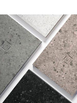 Plato de ducha de resina Gel Coat granito.