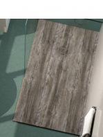 Plato de ducha de resina Gel Coat madera Baobab.