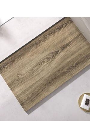 Plato de ducha de resina Gel Coat madera ceniza.