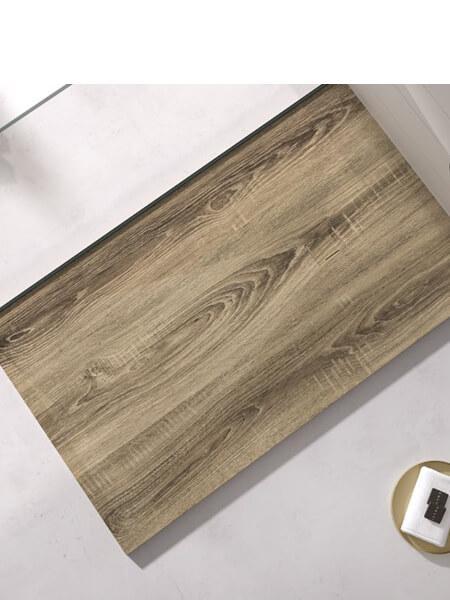 Plato de ducha de resina Gel Coat madera Ceniza