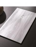 Plato de ducha de resina Gel Coat madera Vintage.