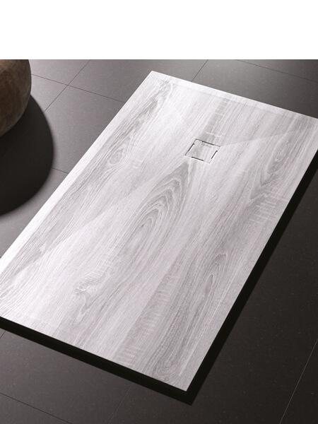 Plato de ducha de resina Gel Coat madera Vintage