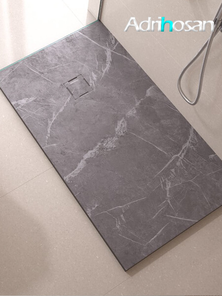 Plato de ducha de resina Gel Coat mármol Marquina