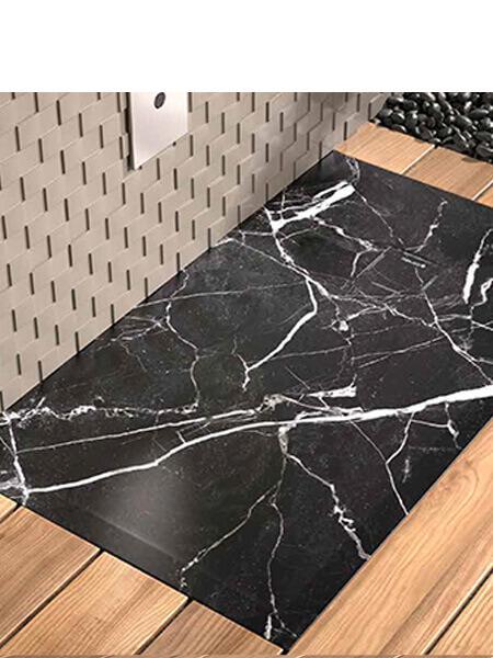 Plato de ducha de resina Gel Coat mármol Negro