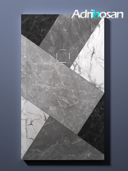 Plato de ducha de resina Gel Coat Mosaico 02 blanco y negro