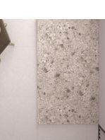 Plato de ducha de resina Gel Coat Terrazo beige