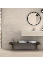 Revestimiento porcelánico rectificado stonehenge deco cream 40x120 cm