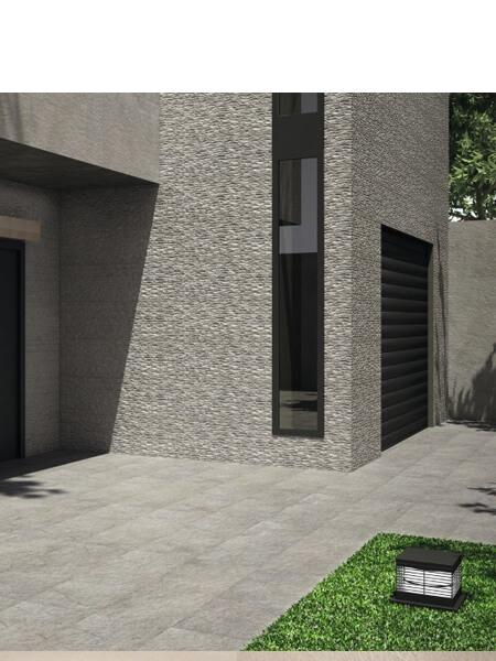Revestimiento porcelánico rectificado Stonehenge deco grey 40x120 cm (1.44 m2/cj)