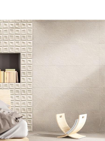 Suelo porcelánico rectificado Stonehenge cream 40x120 cm (1.44 m2/cj)